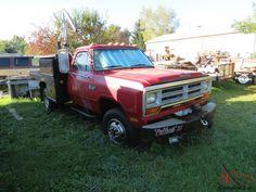 dodge 1 ton flatbed | 1989 Dodge diesel 4X4 1 ton dually 5 spd.....11900 miles for sale Dodge Diesel, Flat Bed, 5th Wheels, Cummins, Mopar, 4x4, Monster Trucks