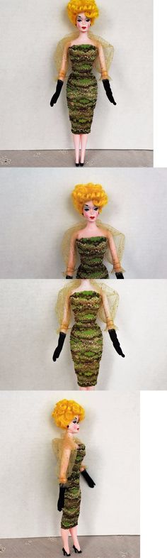 Custom Handmade Barbie Clothing: Retros Green Knit Cocktail Gown Set Severine, Lalka, Barbie 11-In. Fashion Dolls -> BUY IT NOW ONLY: $50 on eBay!