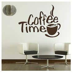 Online shop time cafe wall decals murals dining room kitchen coffee art decor home decoration stic . shop framed abstract art paintings and wall coffee Coffee Signs, Coffee Art, Coffee Time, Native Cafe, Pencil Trees, Aesthetic Coffee, Cafe Wall, Coffee Branding, Vinyl Signs