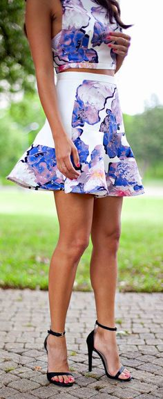 Floral Twin-set Summer Style #prints