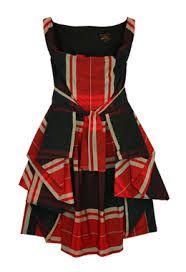Vivienne Westwood Bustle Tartan Dress. Classic. Love the oversized tartan print ...