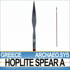The Greek Hoplite Spear Model A here presented has been reconstructed following the archaeological evidence and the Greek vase-painting repr...