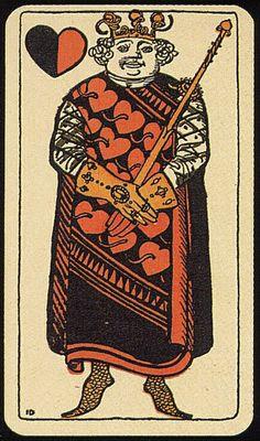 K♥ Deck: Muencher Jugend. Germany. Made: Vereinigte Stralsunder Spielkarten Fabrik AG. Date: 1898