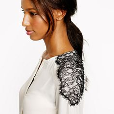 Collection silk shoulder-lace blouse - shirts - Women's 25% OFF FORMULA FOR FALL - J.Crew