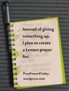 My Lenten List
