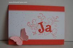 Hochzeit, Ja  Stampin'Up! Kreative Elemente, Schmetterlingsgarten  www.freizeit-pur.com