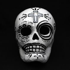 Azúcar calavera Dia de los Muertos por TheOffbeatOfficiant en Etsy
