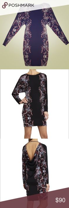 """[flashsale] ⚡️20% off Bundles//. Gorgeous BCBG MaxAxria dress! Brand new with tags. Perfect for date night or hitting the town with your girls. Very stretchy material! Forgiving so you can have a nice meal and not worrying about """"loosening"""" your belt a notch after dinner & drinks 😉  out seam: 22.5"""", Full length: 35"""". BCBGMaxAzria Dresses Mini"""