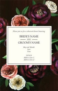 Design wedding invitations with Vistaprint! With hundreds of wedding invitation templates to choose from, there's something to suit all wedding themes and styles. Design your wedding invites now! Personalized Invitations, Custom Invitations, Wedding Themes, Wedding Events, Wedding Invitation Templates, Wedding Invitations, Name Day, Rehearsal Dinner Invitations, Tv On The Radio