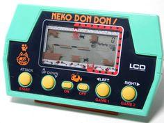 80s Retro Takatoku Toys LCD Handheld Game Neko Don Don Made in Japan_56 #Masudaya