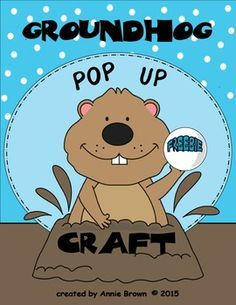 It's February 2nd and Mr. Groundhog is ready to 'pop out' of his burrow.  This craft is easy to prep and fun to make.  7 simple steps with picture examples.  Your students/children will have a fun time making it, and using it to tell the story.  Fun song included!
