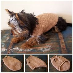 knitted dog sweater free pattern Collage