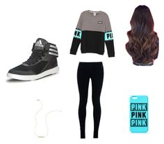 You PINK by kaywisorbet on Polyvore featuring polyvore, fashion, style, NIKE, adidas and Wish by Amanda Rose