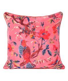 Look what I found on #zulily! Pink Bird Pillow Cover #zulilyfinds