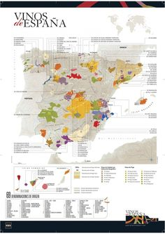Las denominaciones de origen del vino en España #infografia