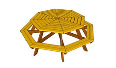 Octagon Picnic Table Plans | Free Outdoor Plans - DIY Shed, Wooden Playhouse, Bbq, Woodworking Projects