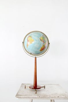 vintage 60s globe / mid century world globe on stand