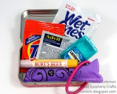 Popper & Mimi Paper Crafts: Altered Altoids Tin: Back to School Kit