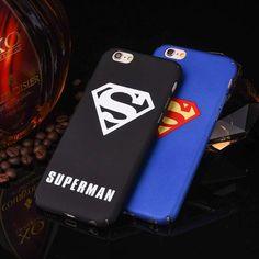 Slim Classical America Superman Pattern Hard Plastic Case For iPhone 7 Plus 6 6s 6 Plus Case Phone Accessories Fundas Coque