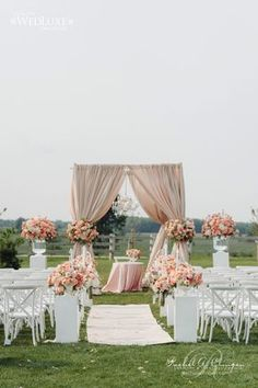 Outdoor Wedding Ceremony Decor Idea ~ Photography: Mango Studios