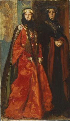King Lear: Goneril and Regan (Act I, Scene i), 1902 by Edwin Austen Abbey