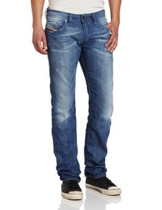 Diesel Men's Safado Regular Slim Straight Leg Jean 0807K, Denim, 33x32 for sale