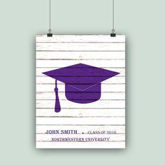 Graduation GiftPERSONALIZED Graduation cap by PrintCorner on Etsy