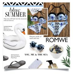 """""""ROMWE"""" by larissa-takahassi ❤ liked on Polyvore featuring Havaianas and Big Mouth"""