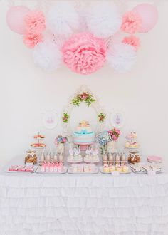 Pastel Milk and Cookies Party with So Many Really Cute Ideas via Kara's Party Ideas | KarasPartyIdeas.com #MilkAndCookiesParty #PartyIdeas #...