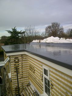 GRP flat roof finished in graphite grey. Flat Roof Repair, Mansard Roof, Fibreglass Roof, Porch Roof, Steel Roofing, Roofing Contractors, Graphite, Tent, Things To Come