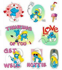 Stickers Summer Smurfs