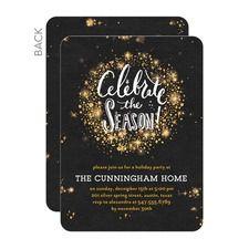 Sparkling Bursts Party Invitations