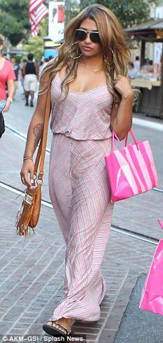 Taking it to the maxi-mum! The Saturdays' Frankie Sandford and Vanessa White indulge in some more retail therapy Frankie Sanford, Playsuits, Jumpsuits, Cute Dresses, Maxi Dresses, Retail Therapy, Dress Skirt, Celebs, Celebrities
