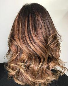 Medium Caramel Ombre Hair
