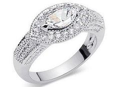 An east west marquise setting can be a distinctive and elegant choice for an engagement ring, wedding band, or right hand diamond ring. Marquis Engagement Rings, Vintage Rings, Vintage Jewelry, Unique Jewelry, Order Of Wedding Ceremony, Wedding Vase Centerpieces, Marquise Diamond, Diamond Rings, Cubic Zirconia Rings