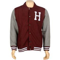 Burgundy HUF Classic H Varsity Jacket $79.99