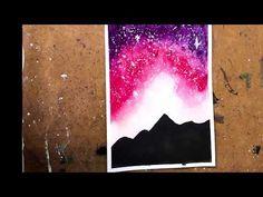 Hello :) This is a painting of a galaxy night sky. Materials used: Fabriano mix media paper Sakura koi watercolors Watercolor Brush Taklon 12 Sakura Koi Watercolor, Pink Galaxy, Watercolor Brushes, Gifts For Mum, Night Skies, Mixed Media, Sky, Make It Yourself, Youtube