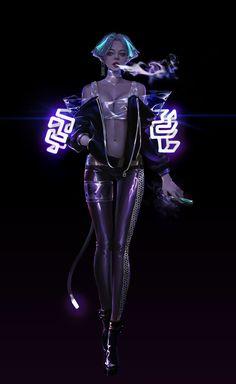 Female Character Design, Character Design References, Character Design Inspiration, Character Concept, Character Art, Cyberpunk Rpg, Cyberpunk Girl, Cyberpunk Aesthetic, Dark Fantasy Art