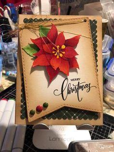 Cas Christmas Cards, Christmas Paper Crafts, Christmas Greetings, Handmade Christmas, Christmas Ideas, Poinsettia Cards, Christmas Poinsettia, Paper Cards, Diy Cards