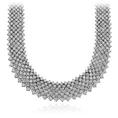 Statement Mesh Diamond Necklace in 18k White Gold (55.77 ct. tw.) $128000