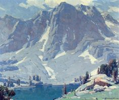 """EDGAR PAYNE   Mountain Landscape   Oil on Canvas   25"""" x 30.25"""""""