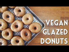 VEGAN GLAZED DONUTS • Krispy Kreme Style Doughnut Recipe - YouTube
