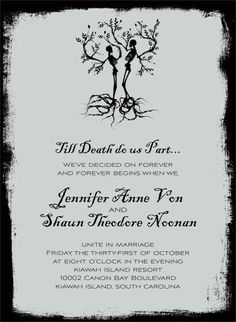 Deadly gorgeous wedding invitations with a punk rock edge from Blue