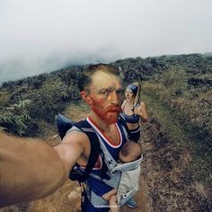 """This graphic designer Photoshops classic art onto modern-day scenes, giving works like the """"Mona Lisa"""" and """"The Starry Night"""" a whole new twist. Culture Day, Pop Culture Art, Johannes Vermeer, Arte Pop, Rembrandt, Halloween Costumes Pop Culture, John Heartfield, Pop Culture Trivia, Mona Lisa"""