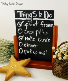 Hudson's Holidays - Designer Shirley Hudson: Chalk boards & more