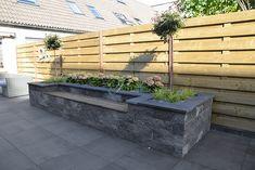 Small Courtyard Gardens, Small Courtyards, Balcony Garden, Brick Planter, Planters, Garden Tiles, Riverside Drive, Diy Patio, Garden Inspiration