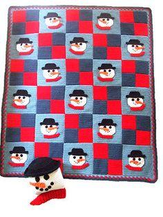 crochet snowman afghan Crochet Empire