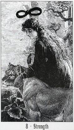 VIII. Strength - Victoria Regina Tarot by George Patterson, Sarah Ovenall