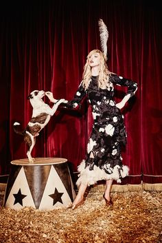 Welcome to the Circus: Frances Coombe by Ellen von Unwerth for Harper's Bazaar UK November 2015