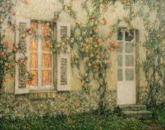 La maison aux roses, Versailles, 1931-1936, Henri Le Sidaner. French (1862 - 1939) - Oil on Canvas -